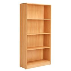 Workmode 1600mm Bookcase with 3 Shelves - Beech Ref - ZIMBC1600BCH
