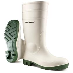 0267d9fd959 Dunlop Protomaster Safety Wellington Boot Steel Toe Size 10.5 White Ref  171BV10.5