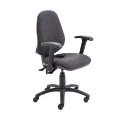 Calypso Ergo Chair With Folding Arms - Charcoal Ref CH2810CH+AC1082
