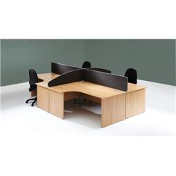 Lyle Desk Mounted 1200mm Screen with Straight Top with Brackets - Black Ref ZL-ST-1238BLK