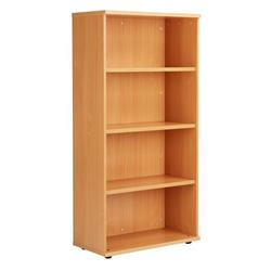 Octet Plus 1600mm Bookcase with 3 Shelves - Beech - ZFPBC1600BCH