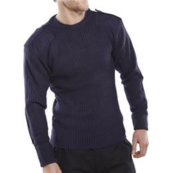 Click Workwear Sweater Military Style Crew-Neck L Navy Blue Ref AMODCNL