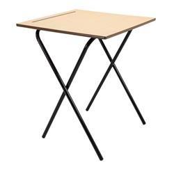 Titan 600x600 Beech MDF Edge Folding Exam Desk 15mm top 720 high Ref TC66ED-ECON-720-NS