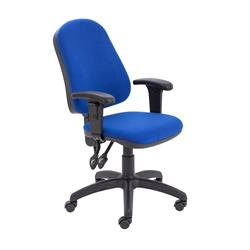 Calypso II High Back Chair with Adjustable Arms - Royal Blue - Ref CH2800RB+AC1040
