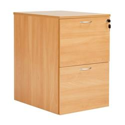 Workmode 2 Drawer Filing Cabinet - Beech - SUFC2BCH