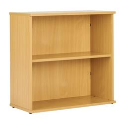 Sonata Desk High 750mm Bookcase with 1 Shelf - Oak Ref - ECOBC750OAK