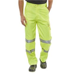 """Click Super Polycotton Work Trousers Bottle Green 40/"""""""