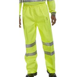 BSeen Birkdale Over Trousers Polyester Hi-Vis M Saturn Yellow Ref BITSYM