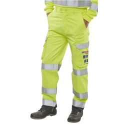 Click Arc Flash Trousers Fire Retardant Hi-Vis Yellow/Navy 48 Ref CARC5SYN48
