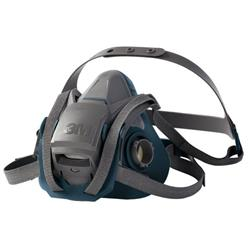 3M Reusable Half Mask Four Point Adjustment Head Harness Small Grey Ref 6501QL