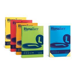 Cartoncino Rismaluce Favini - A4 200 g/mq - 8 colori assortiti - conf. 125