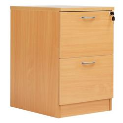 Fraction Plus 2 Drawer Filing Cabinet - Beech - FPFC2BCH