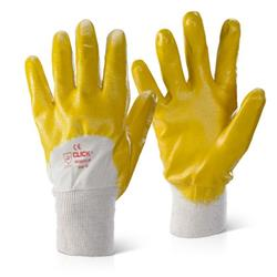 Click2000 Nitrile Knitwrist Palm Coated 8 Gloves Yellow Ref NKWPCLW8 [Pack 100]