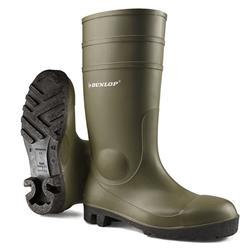 Dunlop Protomaster Safety Wellington Boot Steel Toe PVC Size 4 Green Ref 142VP04