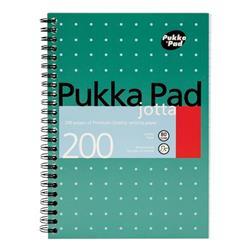 Pukka Pad Metallic Jotta Notebook Wirebound 80gsm Ruled Perforated 200pp A5 Metallic Green Ref JM021 [Pack 3]