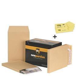 New Guardian Envelopes Heavyweight Peel and Seal with Window Gusset 25mm 130gsm Manilla C4 Ref J27366 - Pack 100