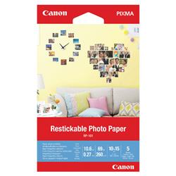 Canon Restickable Photo Paper RP-101 4x6in (5 Pack) 3635C002