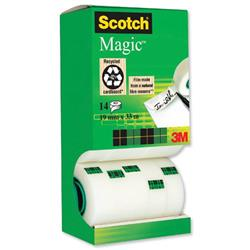 Scotch Magic Tape Value Pack 19mmx33m [12 rolls & 2 FREE]- Ref 81933R14