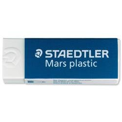 Staedtler Mars Plastic Eraser Premium Quality Self-cleaning 65x23x13mm Ref 52650 - Pack 20