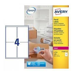 Avery L7169 Laser Labels 139x99.1mm Ref L7169-250 - 250 Sheets