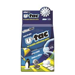 Ultraloc U-Tac Re-Usable Adhesive Putty White (12 Pack) SUUT12