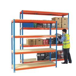 Heavy Duty 1800x900mm Orange/Zinc Painted Additional Shelf 378859
