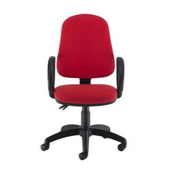 Calypso II High Back Chair with Fixed Arms - Red Ref CH2800RD+AC1002