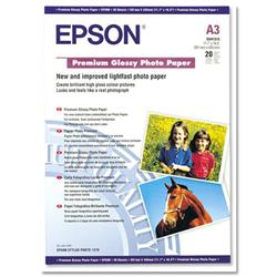 Epson A3 Premium Resin Coated Glossy Photo Paper Ref C13S041315 - 20 Sheets