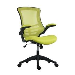 Marlos Mesh Back Office Chair With Folding Arms - Green Ref CH0790GN