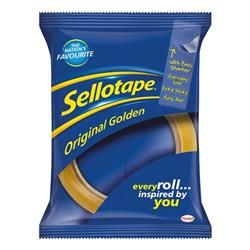 Sellotape Original Golden Tape Roll Large 24mmx66m (Pack 12) - Ref 1443268