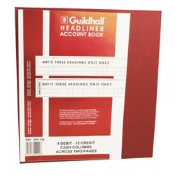 Exacompta Guildhall 298x273mm Headliner Book 80 Pages 48/4-12 1292