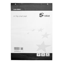 5 Star Value Flipchart Pad A1 [Pack 5]