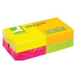 Q-Connect Quick Notes 76 x 76mm Neon (Pack of 12) Ref KF10508