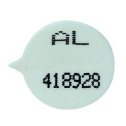 GoSecure Security Seals Numbered Round White (500 Pack) WSealNO