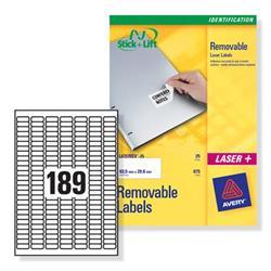 Avery L4731REV Mini Removable Laser Labels 4725 Labels 189 per Sheet Ref L4731REV-25 - 25 Sheets