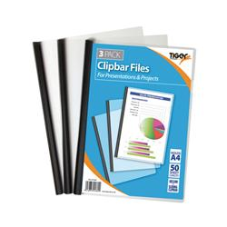 Tiger Clear Clipbar A4 Files (36 Pack) 301669