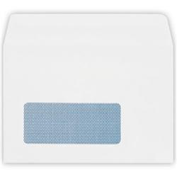 Plus Fabric Envelopes Wallet Press Seal Window 110gsm C6 White - Pack 500