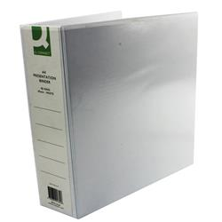 Q-Connect Presentation 65mm 4 D-Ring Binder A4 White (Pack of 6) Ref KF01334Q
