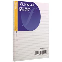 Filofax Refill Personal Ruled Paper White (30 Pack) 133008