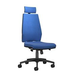 Rome High Back Chair With Headrest - Blue Ref CH7011BKMIRBL