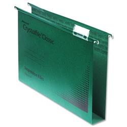 Rexel Crystalfile Classic Suspension File Manilla 30mm Foolscap Green Ref 78041 - Pack 50