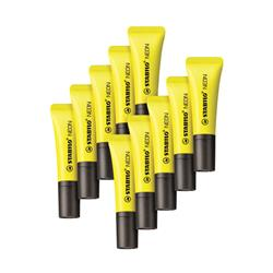 Stabilo Neon Yellow Highlighter (10 Pack) 72/24