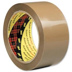 Scotch Packaging Tape Low Noise 48mmx66m Buff Ref 3120BT [Pack 6]