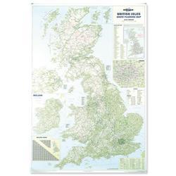 Map Marketing British Isles Motoring Map Unframed 1200x830mm Ref BIM