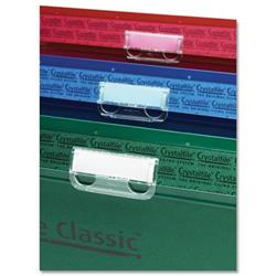 Rexel Crystalfile Tabs Plastic for Suspension Files Clear Ref 78020 - Pack 50