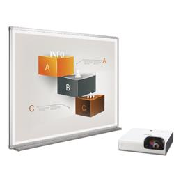 Bi-Office Bi-Bright 72in Whiteboard and Short Throw Projector