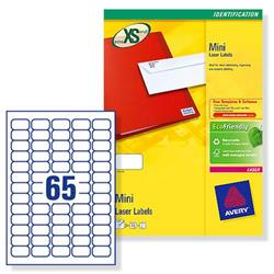 Avery L7651 Mini Laser Labels 38.1x21.2mm 16250 Labels White Ref L7651-250