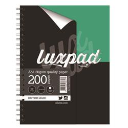 Silvine Luxpad Printed Hardback Wirebound Notebook 200 Pages A5+ (3 Pack) LUXA5FM