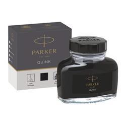 Parker Quink Bottled Ink for Fountain Pens 57ml Black Ref 1950375