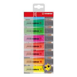 Stabilo Boss Highlighters Chisel Tip 2-5mm Line Assorted Ref 70/8 - Wallet 8
